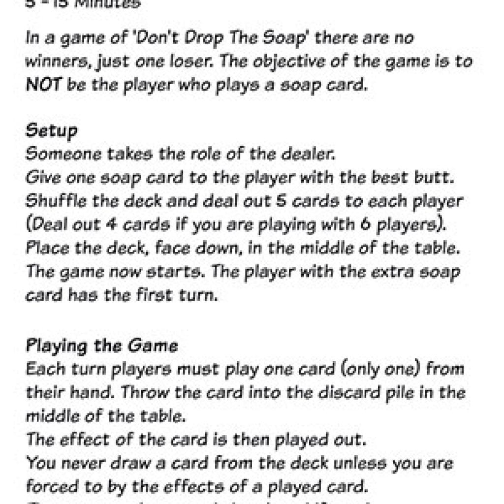 Don't Drop the Soap - rulebook